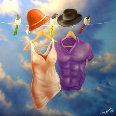 גבר ואישה ככביסה
