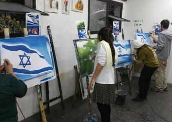 מציירים עם מכחול האוויר בבית הלל