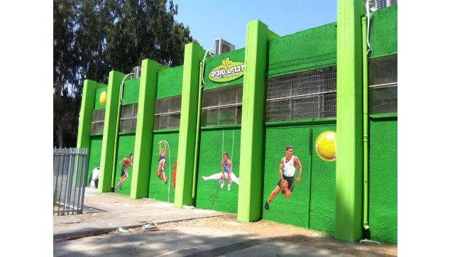 ציורי קיר באולמות ספורט