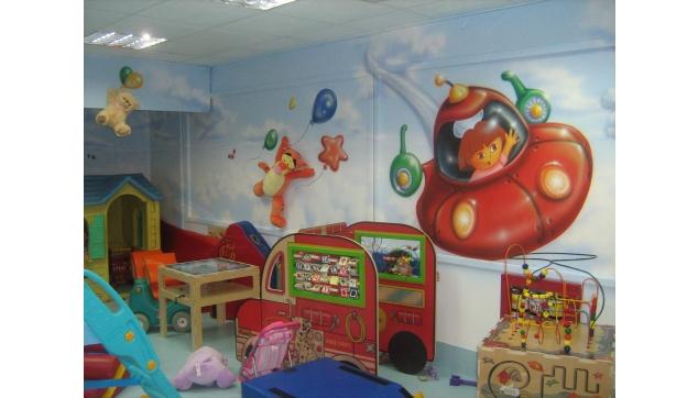 ציורי קיר גני ילדים משחקיות