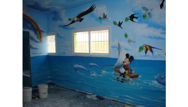 ציורי קיר לגני ילדים ומשחקיות