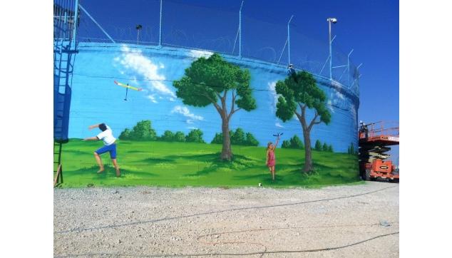 ציורי קיר מגדלי מים