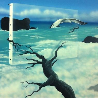 שחף על נוף של ים
