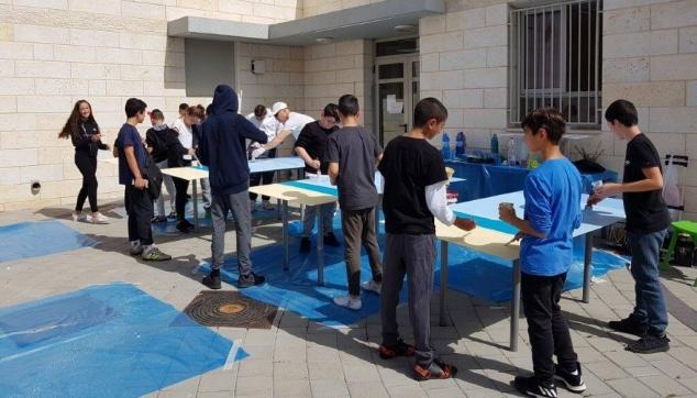 פרויקט תלמידים מציירים את קירות בית ספרם