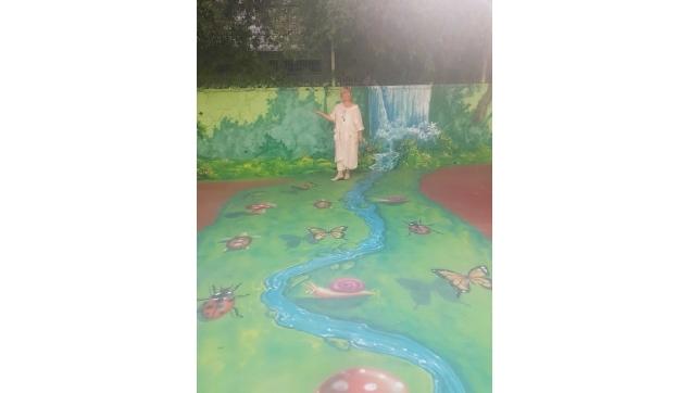 ציורי קיר במשחקי רצפה