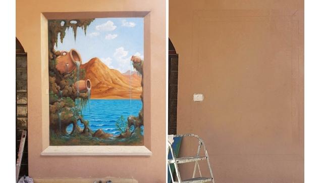 ציורי קיר וצביעה דקורטיבית