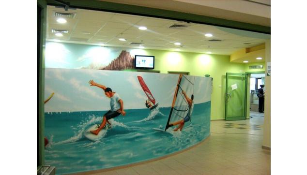 ציורי קיר חדר המתנה בית חולים