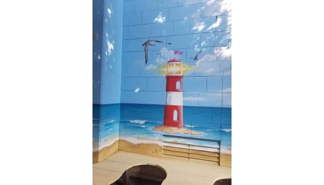 ציורי קיר מסדרונות וכיתות