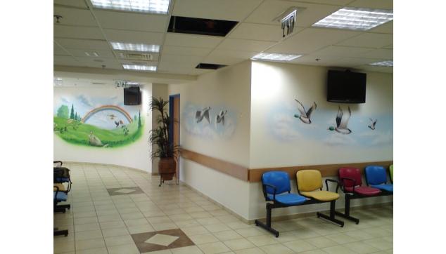 ציורי קיר רגועים בבית חולים