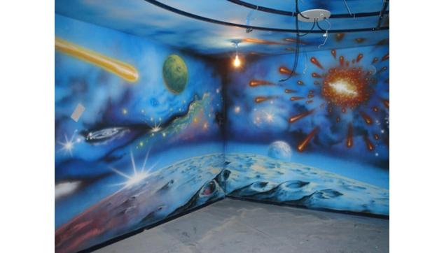 ציור קיר חדר חלל במרפאה