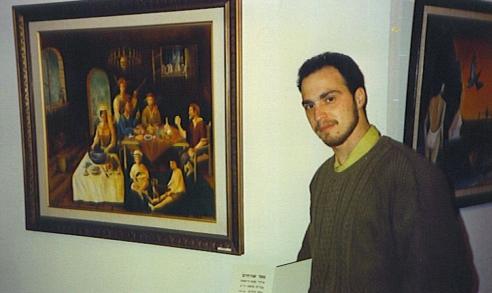 הלל כאשר היה צעיר עם תמונה שצייר