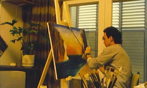 הלל לזרוב מצייר כאשר היה צעיר