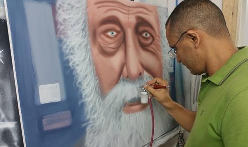 ציור של איש זקן באיירבראש