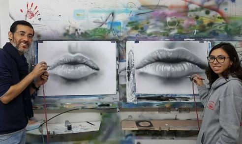 ציור של שפתיים