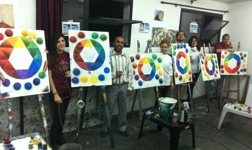 התלמידים בבית המרכז לאומנויות לזרוב