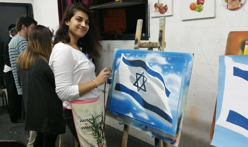 ציור דגל ישראל באיירבראש