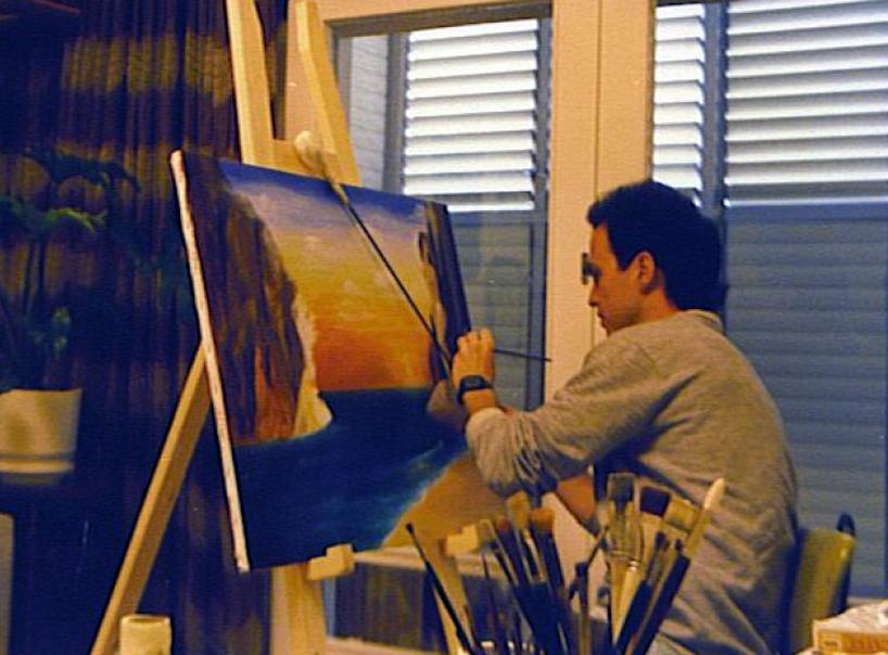 הלל לזרוב אמן ישראלי לציורי קיר