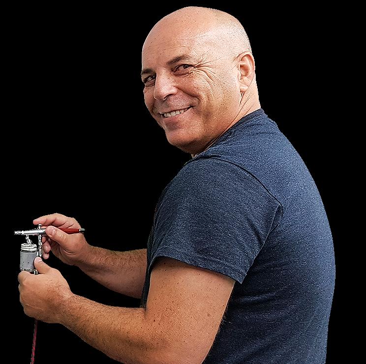 הדרכה על ציורים בטכניקת איירבראש
